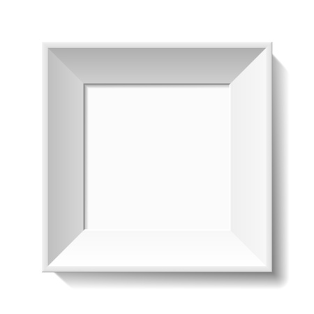 picture frame on wall: White photo frame