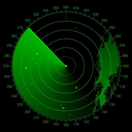 blip: Sonar scope  Stock Photo
