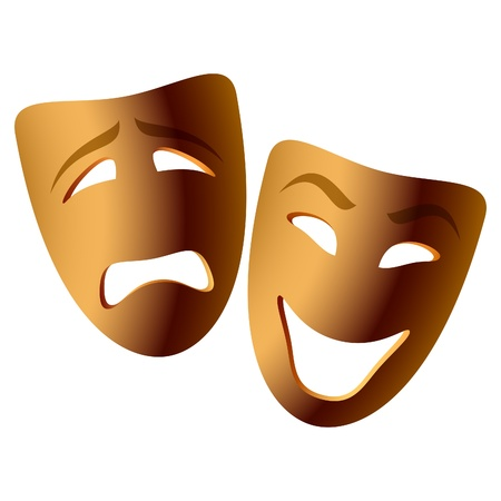 Comedy and tragedy masks Stock Vector - 9690040