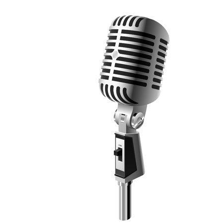 radio microphone: Retro microphone