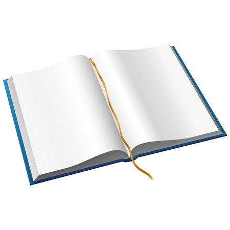blank note book: Open Book