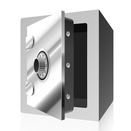 door opening: Bank safe  Stock Photo