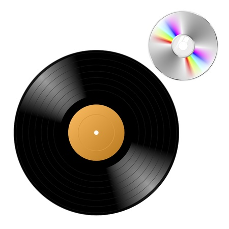 Vinyl record with CD photo