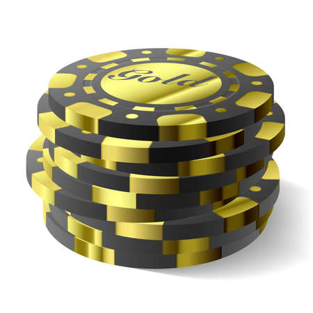 Gambling chips  Illustration