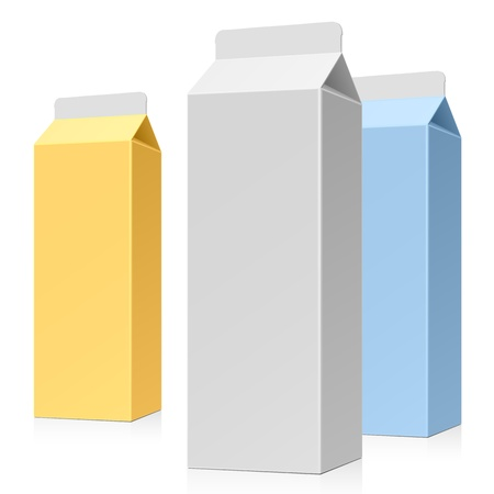 Juice or milk packages   Vector