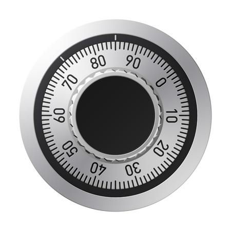 caja fuerte: Cerradura de combinaci�n Vectores