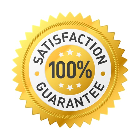 customer services: Satisfaction guarantee label