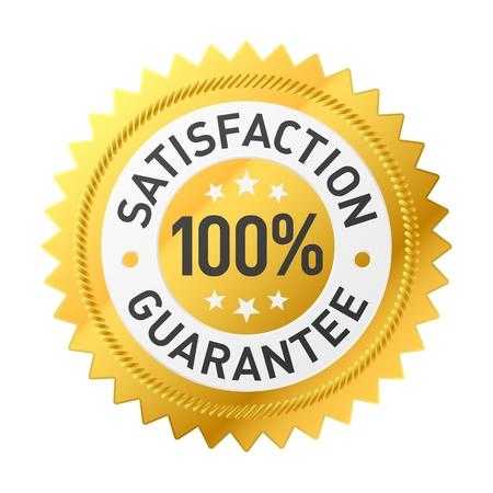 kunden: Zufriedenheit Garantie-label