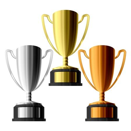 Three trophies  Stock Vector - 9691094