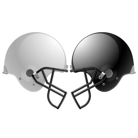uniforme de futbol: Cascos de f�tbol Vectores