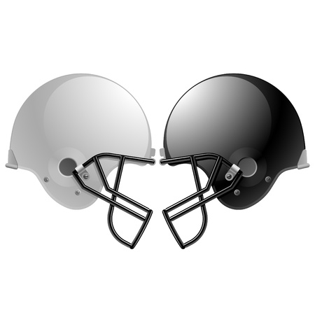 football kick: Football helmets