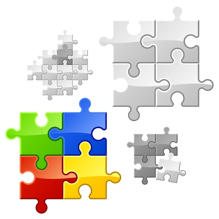 Puzzle. It easy to duplicate parts. Stock Vector - 9690188