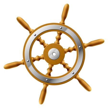marine ship: Steering wheel