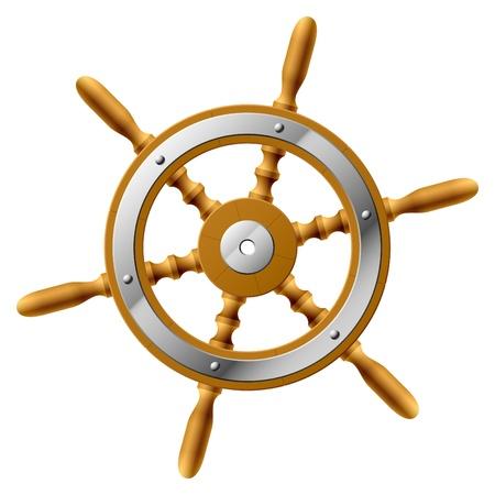 sailing ships: Steering wheel
