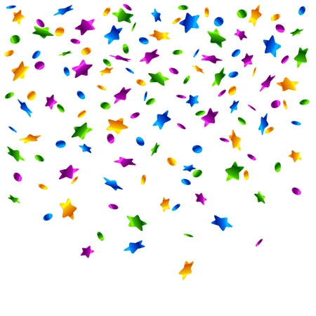 Rain of confetti Vector