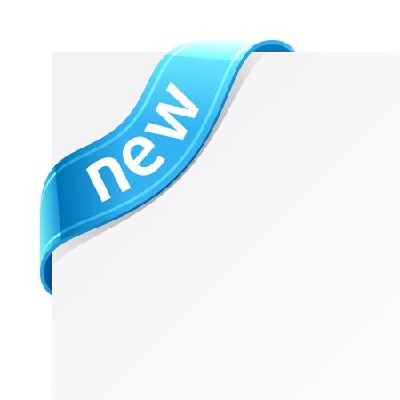 nastro angolo: Nuovo segno  Vettoriali
