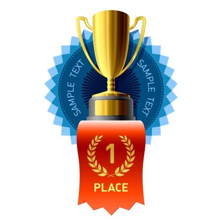 Gold award Vector