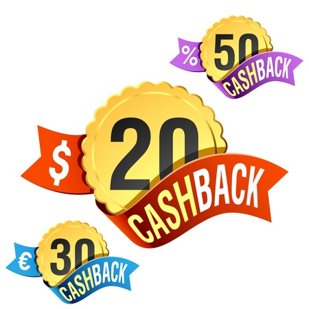 Cash-Back emblem Illustration
