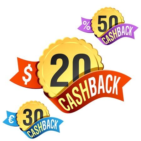repayment: Cash-Back emblem Illustration