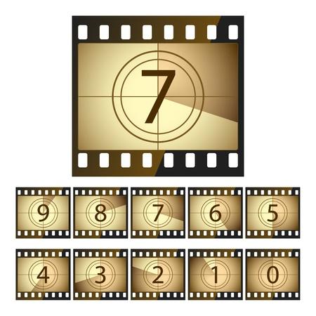 Film countdown Stock Vector - 9720111