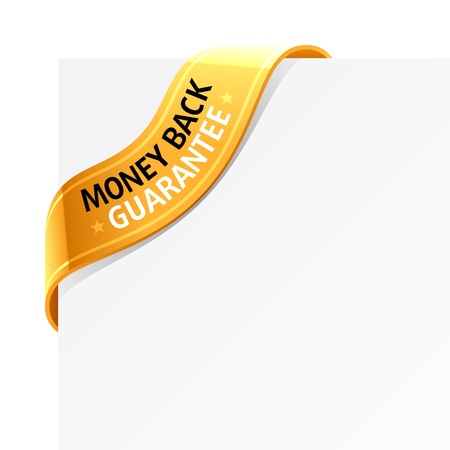 money back: Money back guarantee sign
