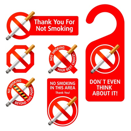 prohibition signs: No Smoking signs