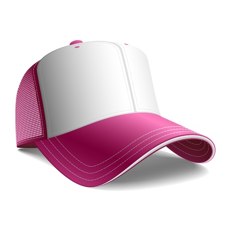 baseball cap: Pink baseball cap Illustration