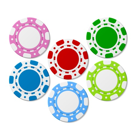Poker chips Stock Vector - 9720112