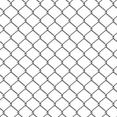 fil de fer: Barrière de grillage. Illustration transparente.