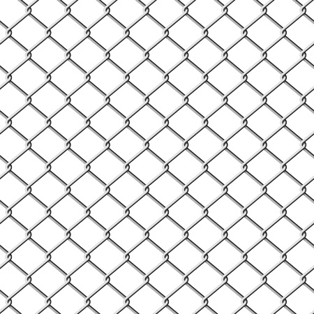 iron fence: Chainlink fence. Seamless illustration.