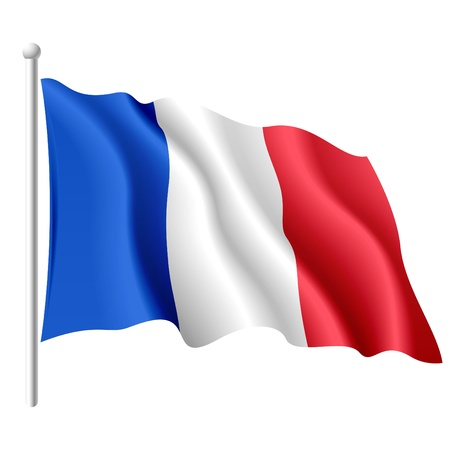 french symbol: Flag of France Stock Photo
