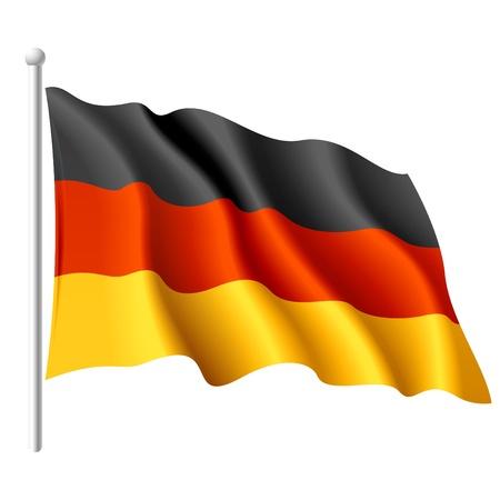 bandera de alemania: Bandera de Alemania  Foto de archivo