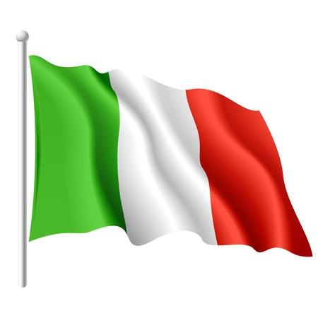 italian flag: Bandiera d'Italia