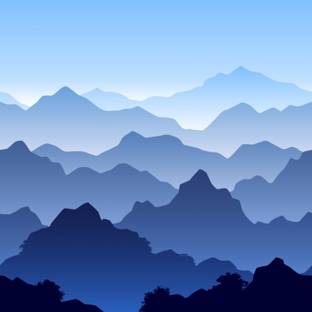 climbing mountain: Seamless mountain landscape Illustration