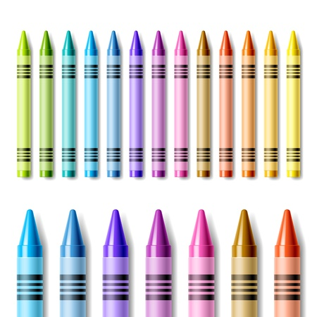 Colorful crayons Vector