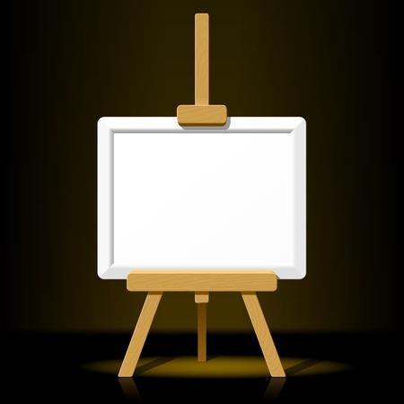 creativity artist: Caballete madera con lienzo en blanco