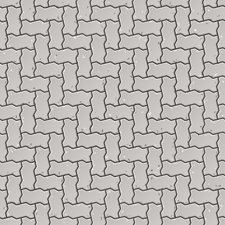pave: Seamless sidewalk pattern Illustration