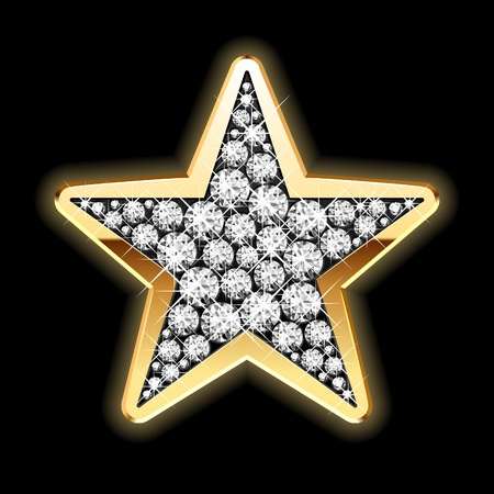 star symbol: Star in diamonds Illustration
