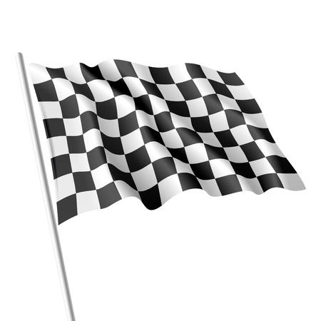 flag: Geblokte vlag Stock Illustratie