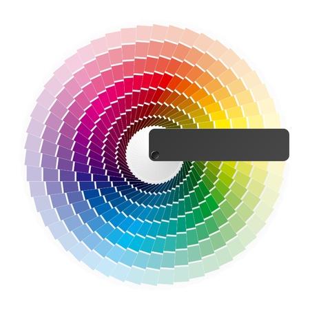 Rueda de color Ilustración de vector