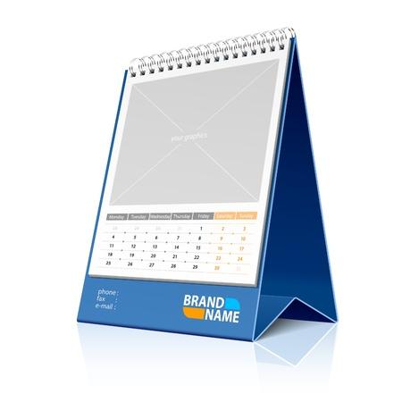 calendario da tavolo: Desktop calendario Vettoriali