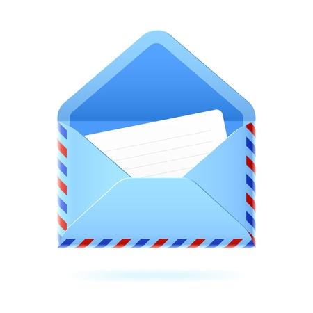 letter box: Open envelope Illustration