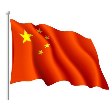 flagge: Flagge der Volksrepublik China Illustration