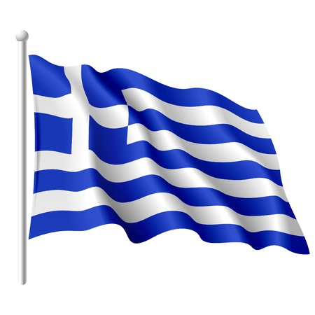 greece: Flag of Greece