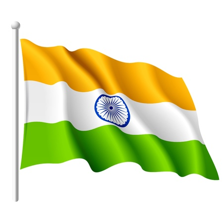 Flag of India Stock Vector - 9882143