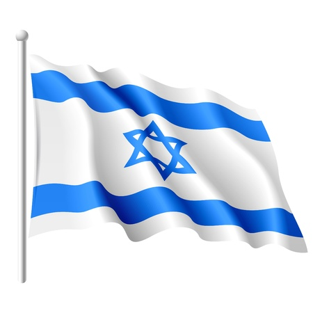and israel: Flag of Israel Illustration