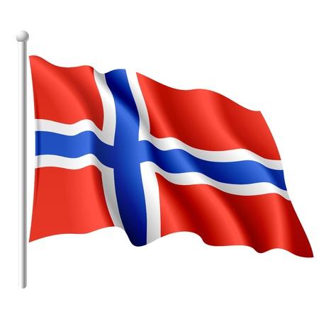 Bandera de Noruega Ilustración de vector
