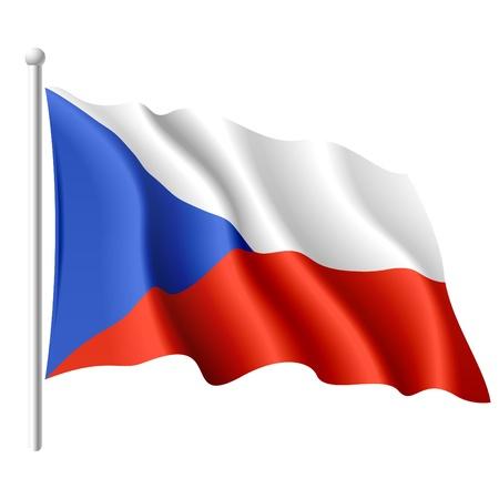 czech flag: Bandiera della Repubblica Ceca Vettoriali