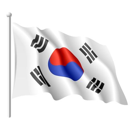 Flag of South Korea Stock Vector - 9882157