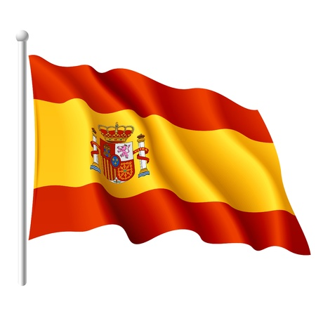 Vlag van Spanje Vector Illustratie